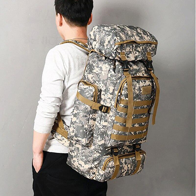 Sac tactique militaire militaire de grande capacité en plein air Camping randonnée sac à dos imperméable Oxford tissu Camouflage numérique sac à dos