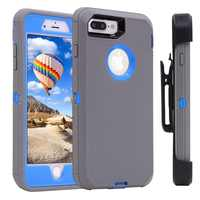 Heavy Duty Armor 3 in 1 Shockproof Protective Case & 360 Degree Rotary Belt Clip Case Cover for iPhone 11 2019 8 7plus 6 SE 5S