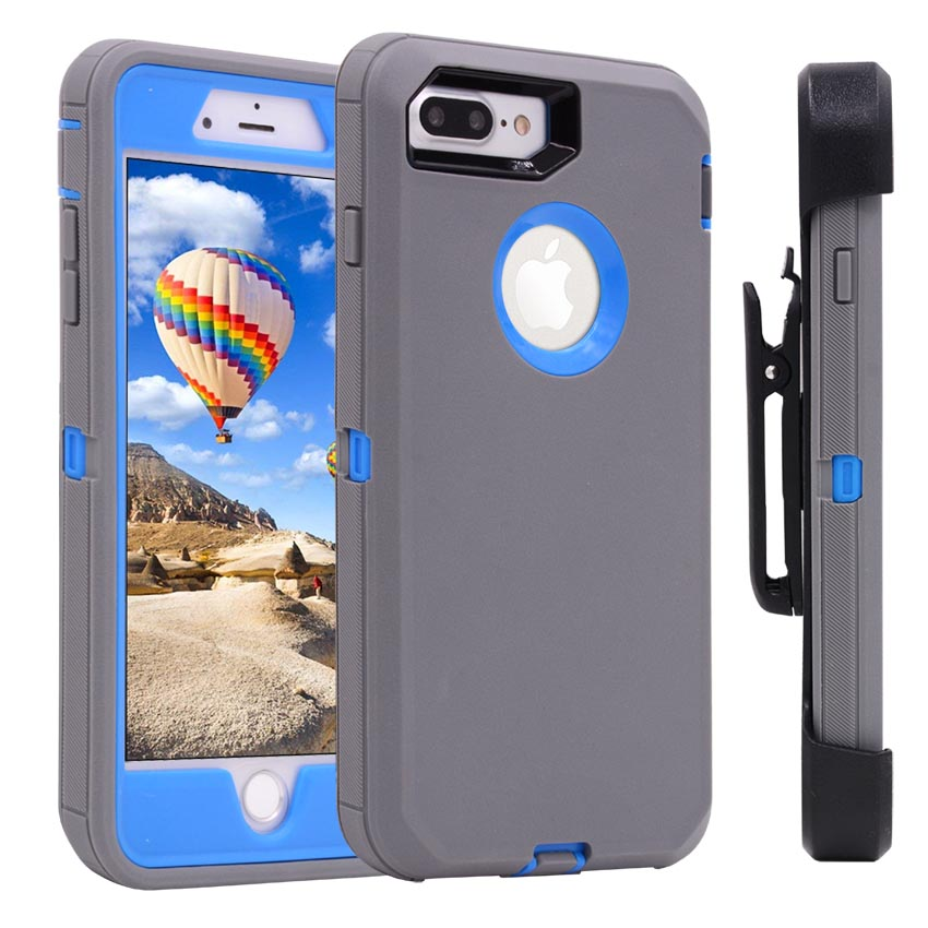 Heavy Duty 3 en 1 protectora a prueba de golpes caso y 360 grados giratorio Clip de cinturón funda para iPhone X 8 7 plus 6 6 s Plus SE 5S