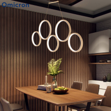 Omicron Modern Led Pendant Lights Creative Lucky Rings White Brown Aluminum Lamp For Dining Room Living Home Decor Fixtures