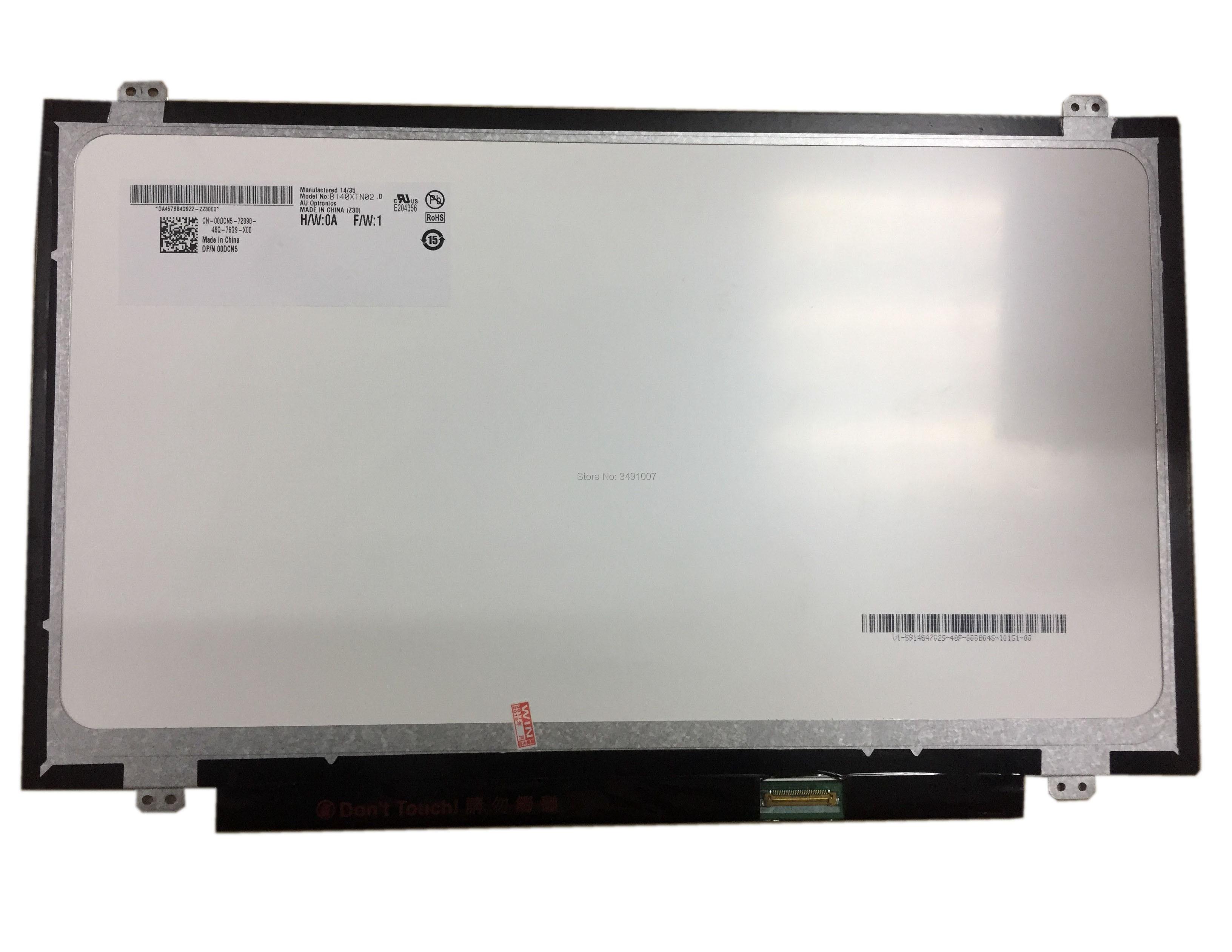 LALAWIN B140XTN02.D Fit B140XTN02.4 LP140WH8 TPC1 N140BGE-EA3 E33 B140XTN02.A B140XTN02.E EDP 30 Pin LCD LED Display SCREEN