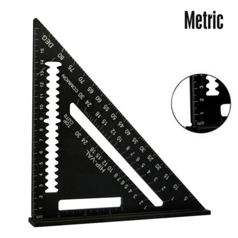 Speed Square Rafter Protractor Triangle Miter Angle Ruler Aluminum 7 NEW