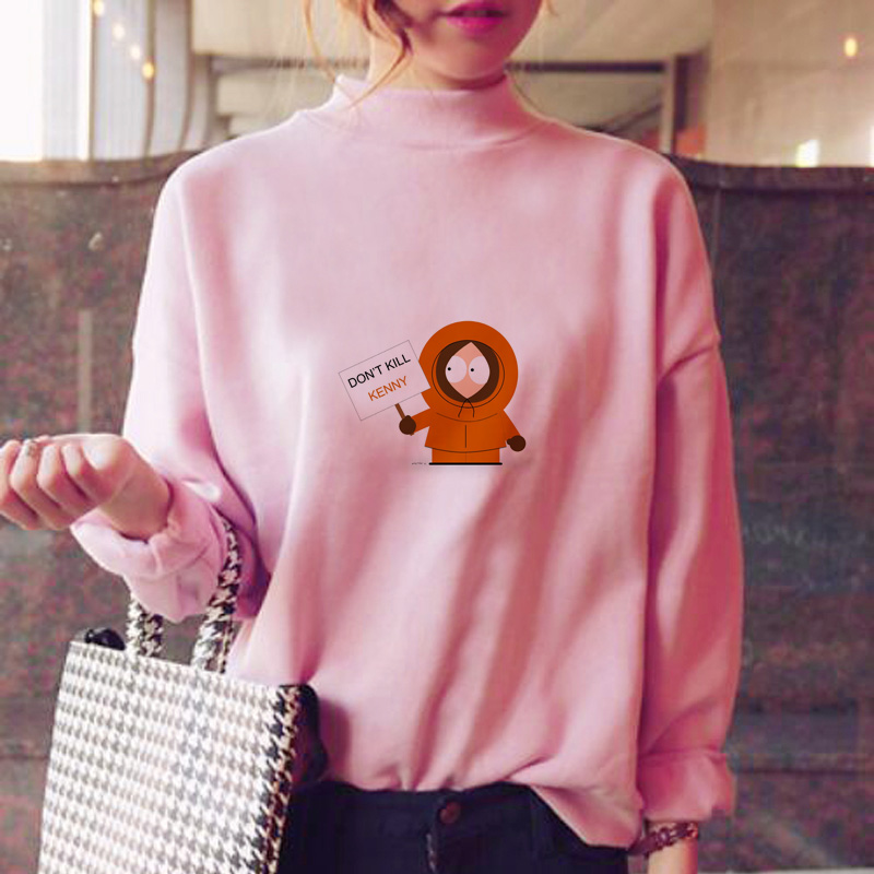 Kenny Hoodies Women Kawaii Ulzzang Hood Harajuku Fashion Winter Kawaii Pink Female Female Sweat Shirt Ulzzang