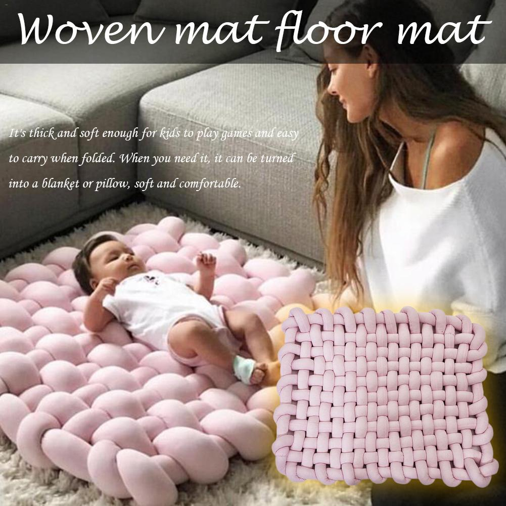 INS Style 45x45 cm tapis tissé à la main bébé ramper antidérapant bébé tapis de jeu coussin décoration de la maison accessoires de photographie jouets