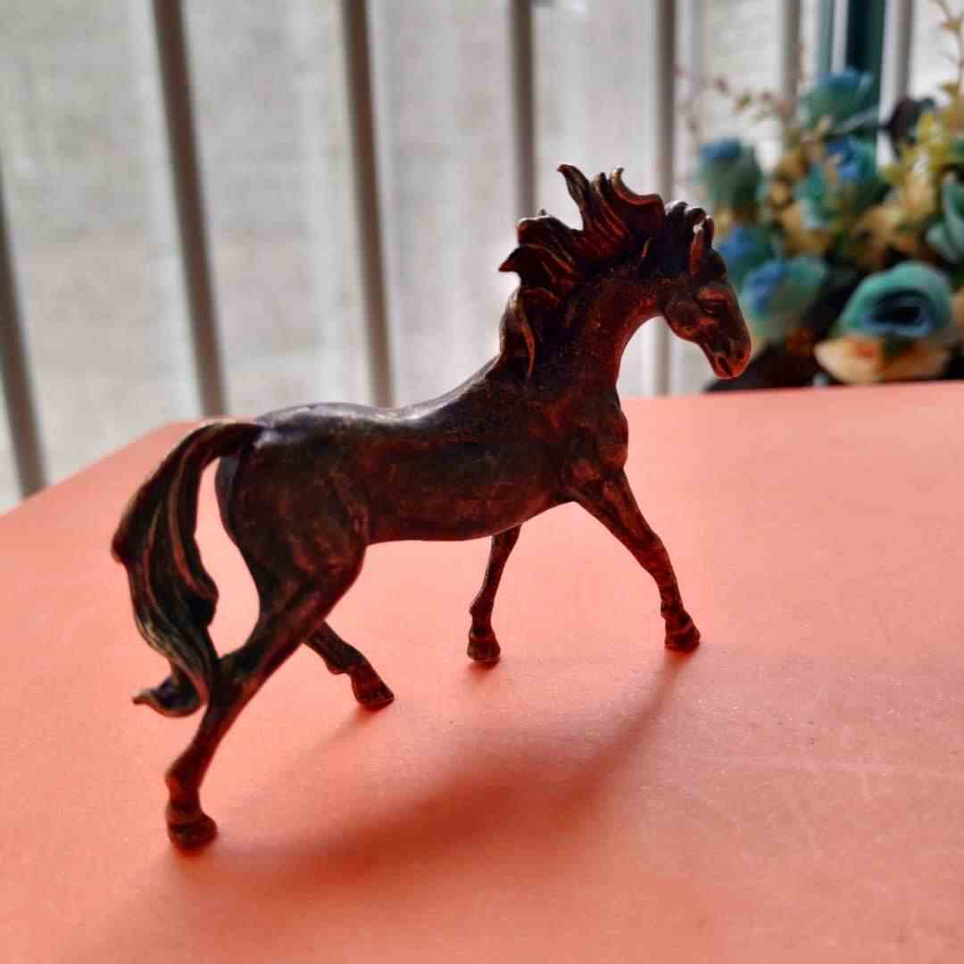 Koleksi Tua Cina Archaize Murni Kuda Lari Patung Kecil