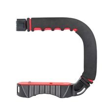 TTKK Ulanzi U-Grip тройное крепление для холодного башмака стабилизатор Ручка Риг фото студия набор с микрофоном для Dslr Nikon Canon Sma