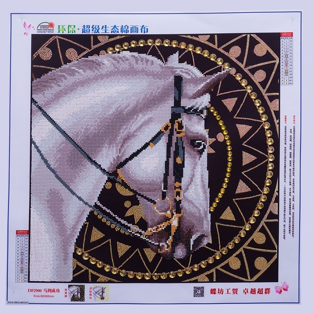 HUACAN Diamond Embroidery Animal 5D Diamond Painting Horse Rhinestone Picture Diamond Mosaic Home Decor Gift