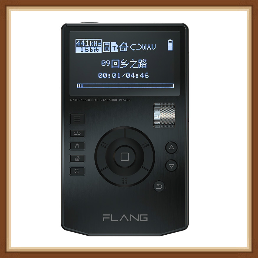 FLANG V5 HiFi Music Player High Resolution Digital Lossless Audio Player W/ 2.4-Inch OLED Screen With Dock Supports 128G SD Card