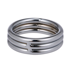 Stainless Steel Cock Ring Penis Extend Sex Time Glans Chastity Cage Cockring