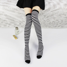 Cutton Stripe lolita Socks High Knee Long Stockings SF