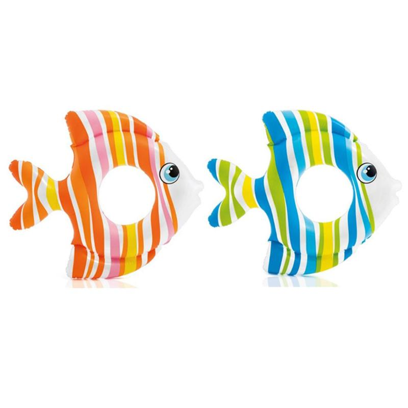 1-6 Years Old Baby Tropical Fish Swimming Ring PVC Baby Inflatable Fish Swimming Ring Kids Swimming Pool Safety Child Toys