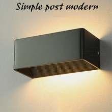 Modern 10W LED Wall Lamp Black&White Aluminum Light