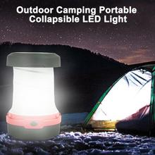 Portable Outdoor Camping Light Solar Panel USB Mini Collapsible LED Flashlight Tent Light Lantern camping lamp недорого
