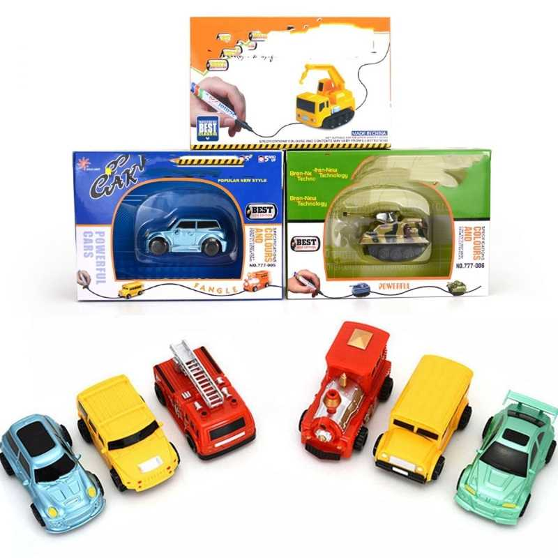 Toys Cars Tanks Inductive Trucks Classic Car Toys for Kids Amazing Magic Toys Truck Follow The Line Track Perfect Gifts