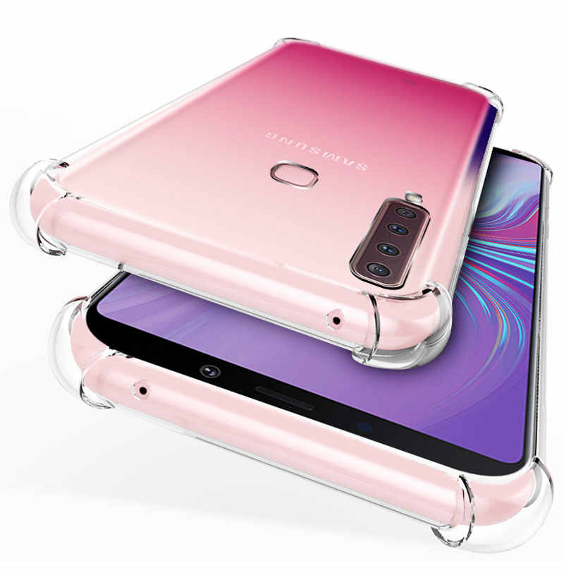 Rõ ràng Ốp Lưng Viền Chống Sốc Dành Cho Samsung Galaxy A9S A6 A8 Plus A7 2018 S8 S9 Note8 9 J4 J6 j8 Đệm Không Khí Silicone nhà ở