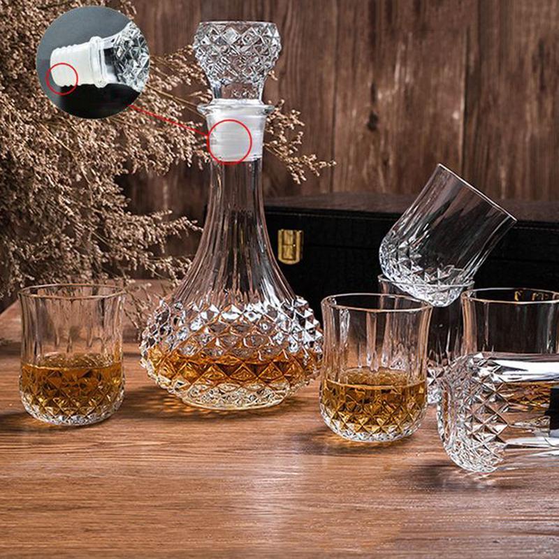 Innovant maison cristal verre à boire bouteille vin décanteur whisky maison Bar Vodka bière bouteille pot cruche