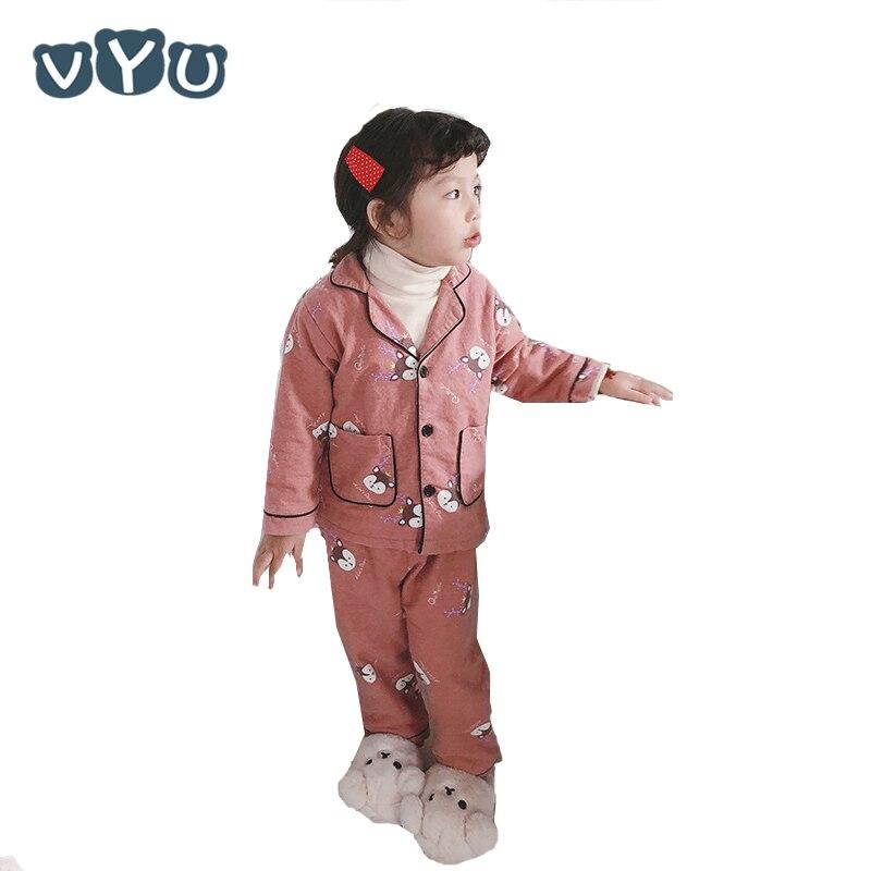 Kid Long Sleeves Tracksuit 2PCS Boys Suit Outfits Cute Cartoon Set Warm Jacket
