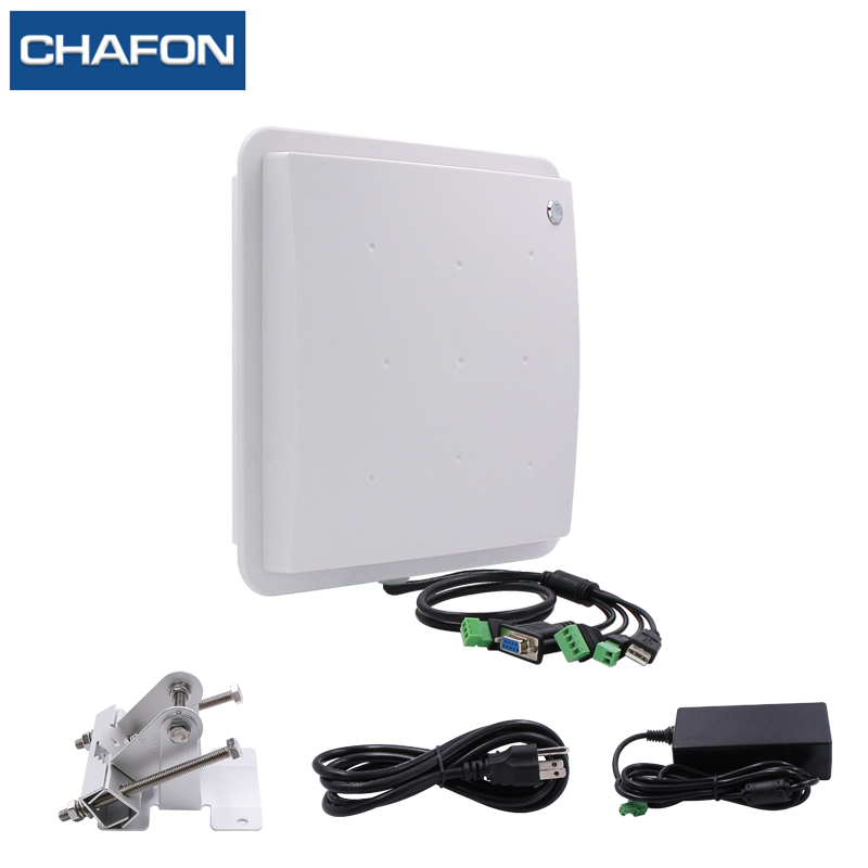 Image 4 - CHAFON 8M mid range uhf rfid integrated reader IP66 RS232 WG26 USB RELAY support firmware upgrade multiple language for parking-in Control Card Readers from Security & Protection