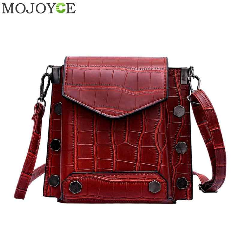 2019 Brand Women Bags Luxury Handbags Women Messenger Bags Cover Rivet Bag Girls Fashion Shoulder Bag Ladies PU Leather Handbags