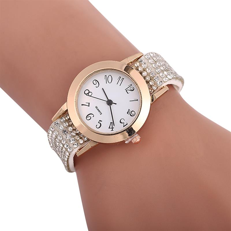 2019 Hot Sale Special Gifts Women Watches Luxury Fashion Wrap Around Padlock Diamond Lady Womans Wrist Watch clock