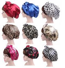 1PC Fashion Floral Headscarf Women Muslim Stretch Turban Hat Islamic Pirate Headwraps Elastic Sleeping Hat Bonnet Ladies Hijabs