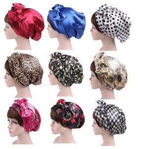 Image 1 - 1PC ファッション花ヘッドスカーフ女性イスラム教徒ストレッチターバン帽子イスラム海賊 Headwraps 弾性睡眠帽子ボンネットレディース Hijabs