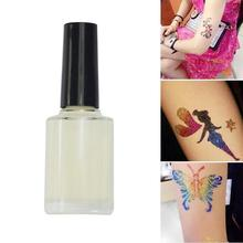 20ml One-time Semi-permanent small tattoo colorful glue Multicolor Glitter Tattoo Powder Glue Long Lasting Body Painting