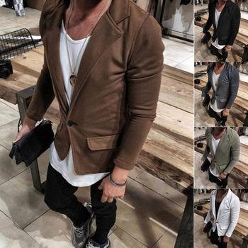2019 New Arrival Luxury Men Casual Vintage Business Blazer Urbane Smart Coat Suit Jacket Formal Blazers Clothes M-3XL