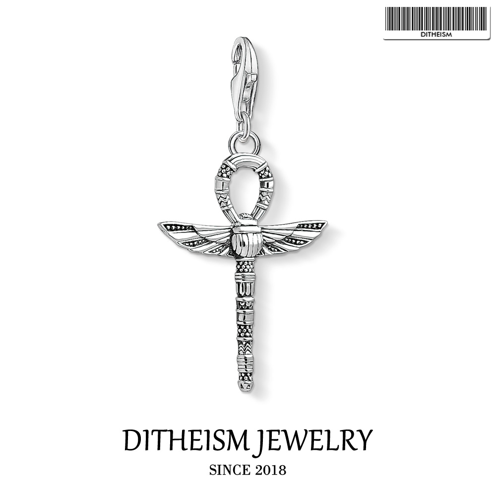 Cruz da vida ankh com encantos do escaravelho, 2018 jóias de moda 925 presente de prata esterlina para as mulheres