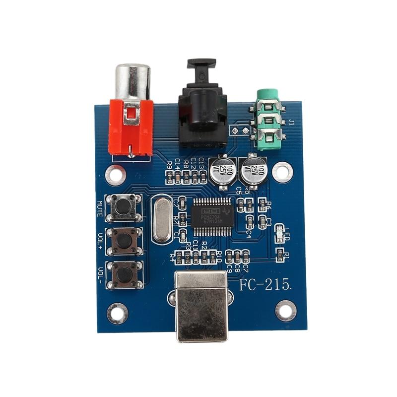 PCM2704USB soundkarte DAC decoder usb-eingang koaxial faser HIFI sound karte decoder fieber