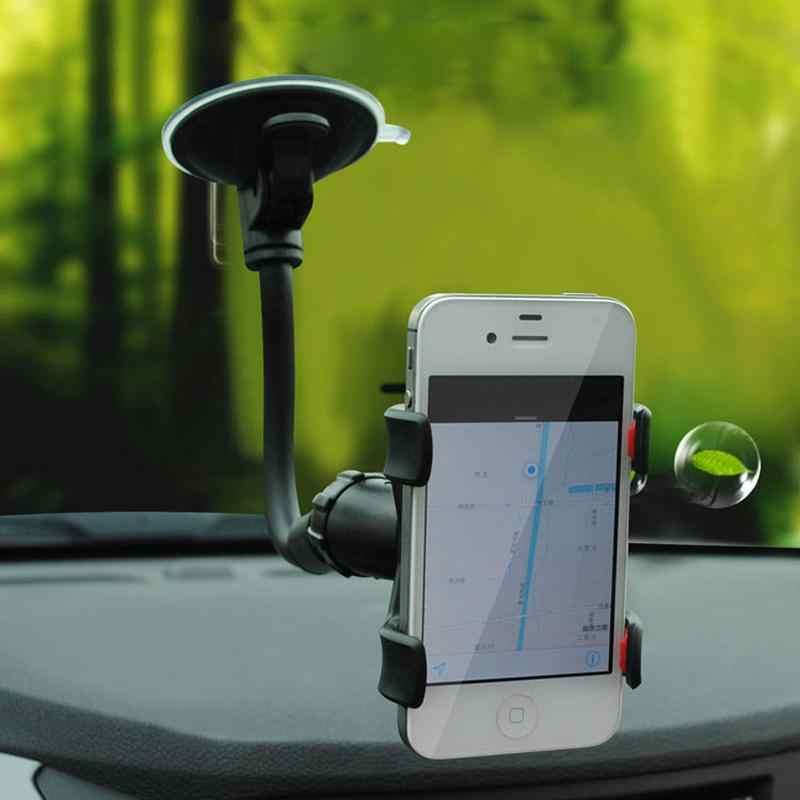 Suporte para parte traseira de carro, suporte para celular com rotação 360 para braços longos flexível