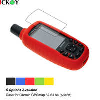 Custodia in silicone + Protezione Dello Schermo Dello Schermo Pellicola per le Escursioni Palmare GPS Garmin GPSMAP 62 63 64 62 s 62sc 62st 62stc 64st 63sc 63st