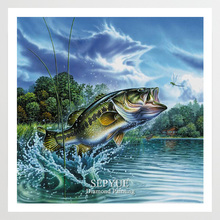 SepYue Diamond Embroidery Cross Stitch Fish 5D DIY Painting Paint with Diamonds Mosaic Rhinestone Full Drill Landscape