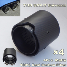 4pcs/lot, Matte Carbon Fiber Exhaust tip 71MM INLET OD 93MM OUTLET OD For BMW M Performance adams high performance interactive graphics – m od rend