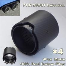 4pcs/lot, Matte Carbon Fiber Exhaust tip 71MM INLET OD 93MM OUTLET For BMW M Performance