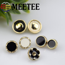 30PCS MEETEE sewing accessories round metal buttons for shirts,dress, jacket,sweaters
