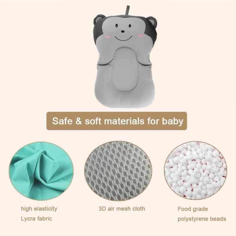 Almofada de assento de banho do bebê cama de almofada de assento de banho de bebê almofada de ar portátil