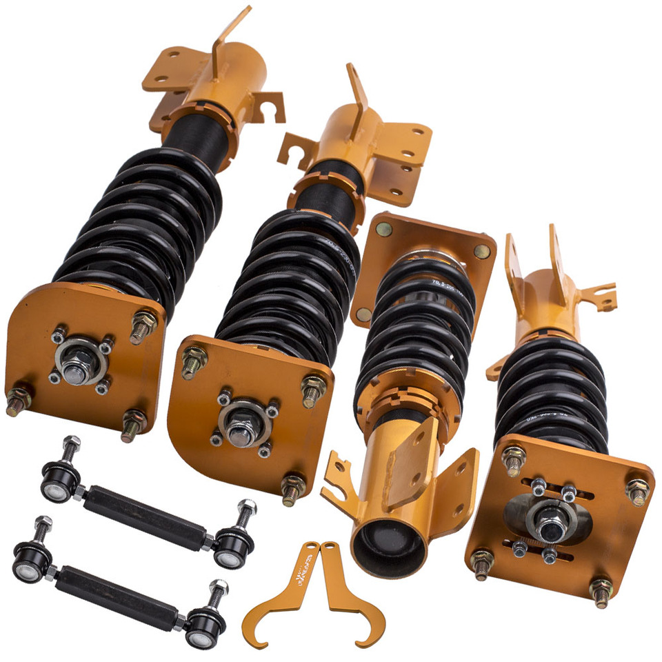 Compatible with 1999-2003 Mazda Protege Rear Strut and Coil Spring Assembly Set 2 Piece Set