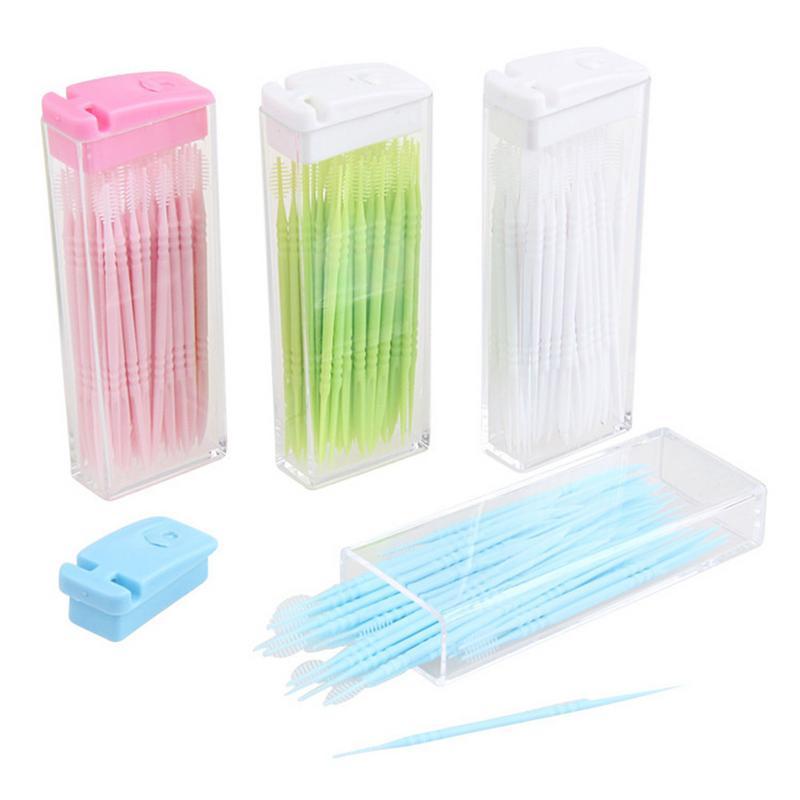 Mundhygiene Schönheit & Gesundheit GüNstiger Verkauf Zähne Zahnseide Stange 50 Teile/paket Boxed Zahnstocher Tragbare Kunststoff Doppel-kopf Zähne Zahnseide Zähne Stick Mundpflege Werkzeug