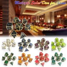 7Pcs 12MM~20MM New Outlet Font For Dungeons & Dragons 7pcs/set Innovative RPG Dice D&D Metal Set Entertainment Supplies