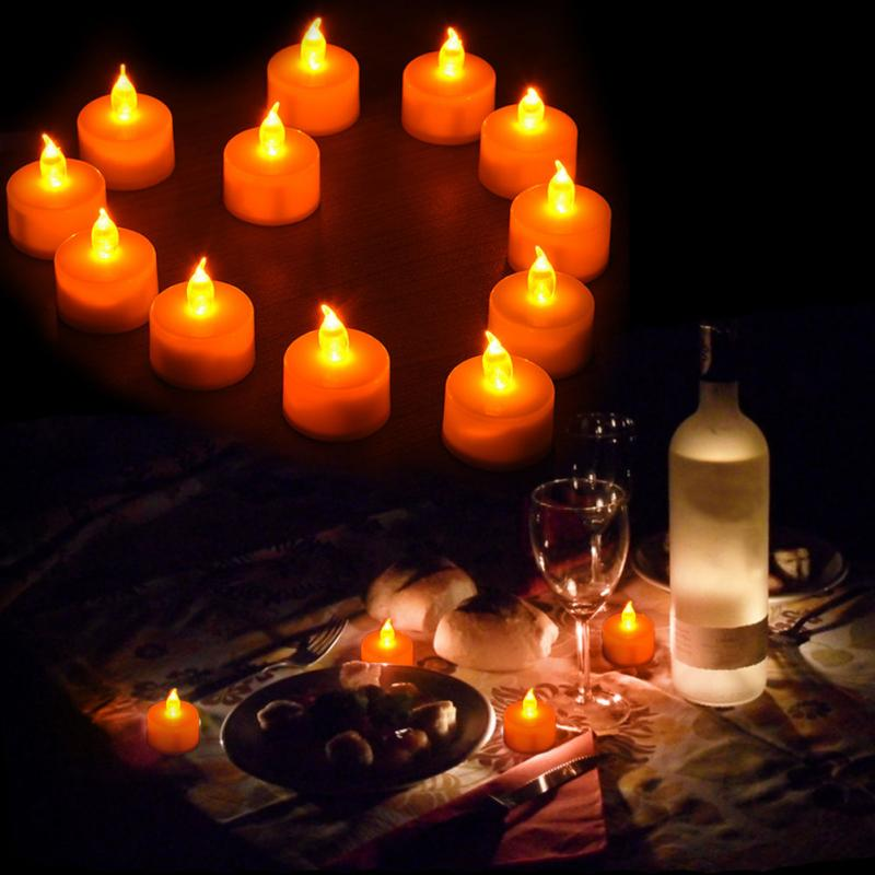 1PC Electronic Candle LED Light Mini Romantic Smokeless Flameless Candle Lamp Wedding Birthday Party Christmas Holiday Lighting