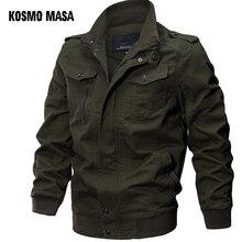 KOSMO מסע מפציץ מעיל גברים סתיו חורף 2018 צבאי Mens שחור מעילי מעיל רוח Jacket לגברים להאריך ימים יותר MJ0074