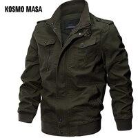 KOSMO MASA курточка бомбер для мужчин осень зима 2018 Военная Униформа мужские куртки и пальто Черная ветровка куртка для верхняя одежда MJ0074