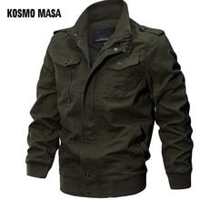 KOSMO MASA Bomber Jacket Men Autumn Winter 2018 Military Mens Jackets And Coats Black Windbreaker Jacket for Men Outwear MJ0074