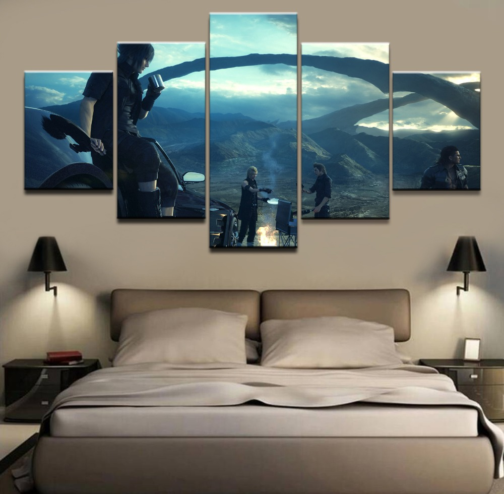 Fantasy Home Decor: 5 Pieces Game Poster Game Final Fantasy Wall Art Painting