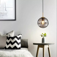 Nordic Loft Glass Ball Pendant Lights Modern LED Hanging Lamp Living Room Restaurant Bedroom Lobby Kitchen Fixtures Lighting недорого