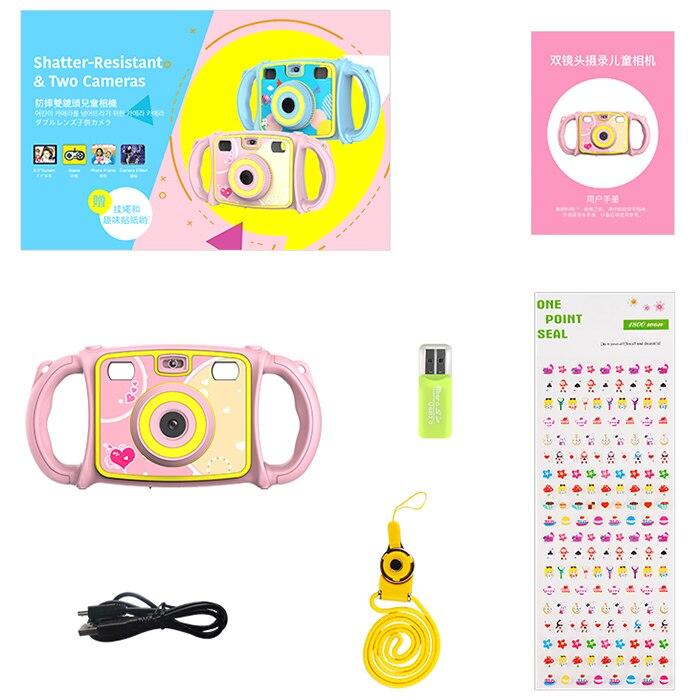 Jouet électronique caméra bande dessinée double objectif Zoom appareil Photo numérique jouet pour enfants - 6
