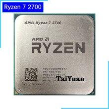Processador amd ryzen 7 2700 r7 2700 3.2 ghz, processador de cpu oito núcleos 16m 65w «soquete am4
