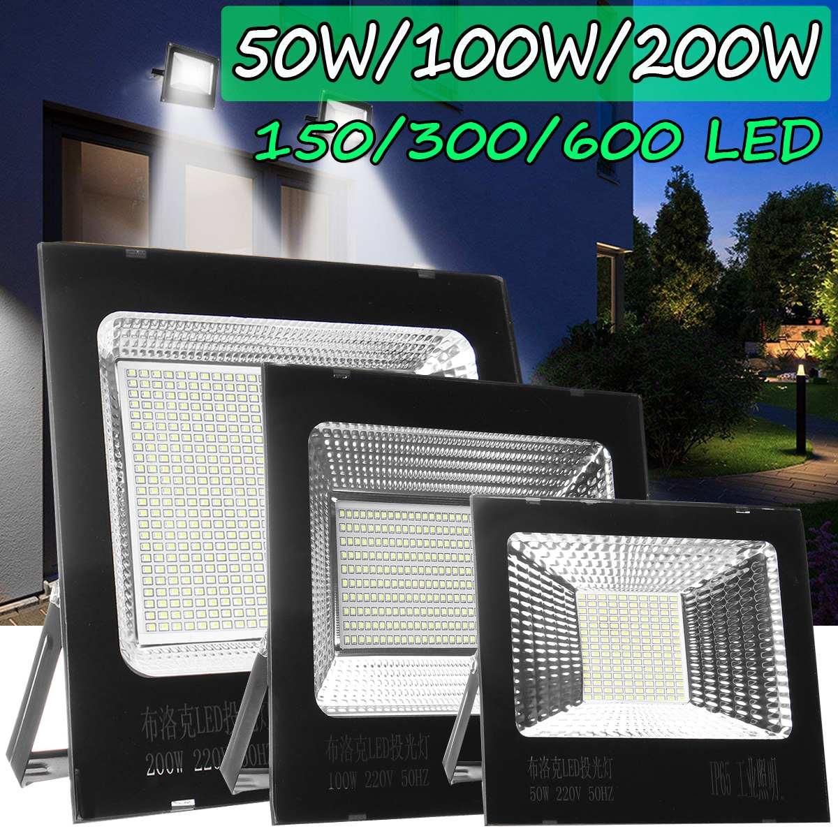 50W/100W/200W LED Floodlight Motion Projector Spotlight Outdoor Garden Street Security Reflector Flood Light Lamp Waterproof