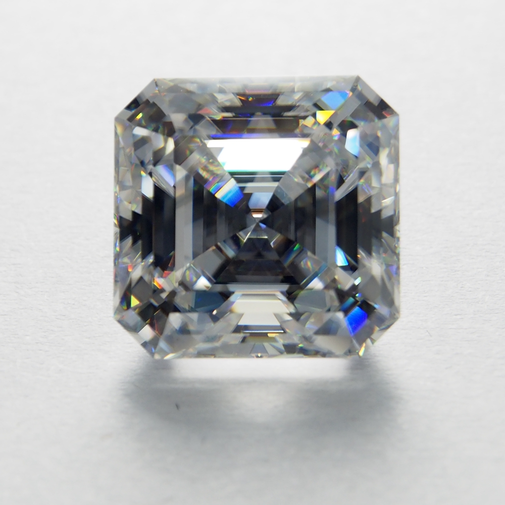9*9mm Asscher Cut VVS Excellent  White Moissanite Stone Loose Moissanite Diamond 3.28 carat for Ring9*9mm Asscher Cut VVS Excellent  White Moissanite Stone Loose Moissanite Diamond 3.28 carat for Ring